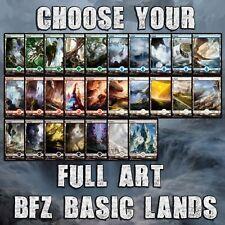 Choose Your BFZ / OGW - Full Art Lands - MTG M/NM - Buy 1 Get 1 Free!