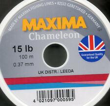 Maxima Chameleon Clear fishing line 100M spools monofilament 12 lb 15 lb