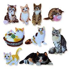 Lindos Gatos Felino Gatito Hierro Coser apliques bordados en bolsillo Parches Craft