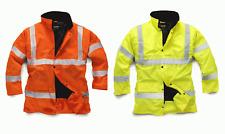 Standsafe Reflective High Visibility Hi Vis Viz  Work Parka Jacket Size S - 5XL