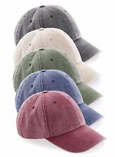 profil bas vintage coton lavé bleu noir rouge beige vert casquette baseball