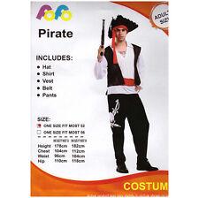 Adult Caribbean Pirate Men / Man Costume Party Halloween Pirate Costume Jack