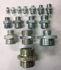 Hydraulic Mâle x Mâle Adaptateur Raccord Pompe Valve toutes tailles BSP M/M