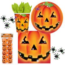 Halloween Party Kürbis  Auswahl Motto Gruselparty Kindergeburtstag Servietten