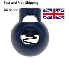 Spring Loaded Plastic Round Toggle Stopper Cord Locks 10pcs 5pcs 1pcs Black UK