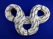 TRECCIA MARINI A TRECCIA Blu Fleck Corda 29mtr x 14mm BOBINA fine residuo di Yacht z368