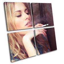 Smoking Girl Fashion MULTI LONA pared arte Foto impresion
