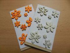 9 Filzsticker, Filzblumen, Blumensticker, Frühlingsblumen