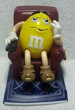 M&M's Mars CANDY DISPENSER YELLOW Peanut w/ Teddy Bear Slippers & Remote 1999