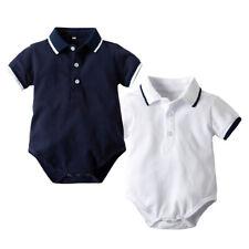 Toddler Baby Boys Gentleman Short Sleeve Letter Printed Bodysuit Romper Clothes