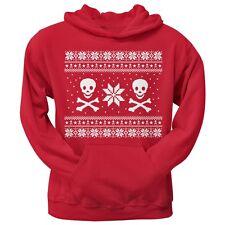 Skull & Crossbones Ugly Christmas Sweater Red Pullover Men's Hoodie Sweatshirt