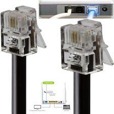 RJ11 to RJ11 ADSL BT Broadband Modem Internet Router Cable 50cm To 30 Meter Lot