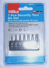 7 PC STAR TORX TAMPERPROOF SECURITY BITS HILKA 25mm T9 T10 T15 T20 T25 T27 T30