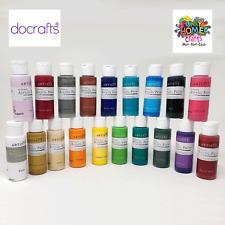 DoCrafts Artiste Acrylic Paint 59ml bottles, Matt Paint, Metallic Pearl Colours