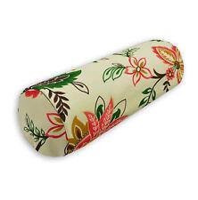 lf337g Fuschia Green Brown High Quality Cotton Canvas Yoga Bolster Cushion Cover