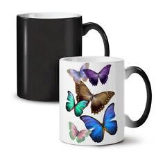 Mariposa Multicolor nuevo cambio de color té café taza 11 Oz   wellcoda
