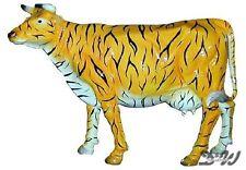 KUH mit KUNSTBEMALUNG TIGER lebensgroß Deko Garten Tier Figur AFRIKA BAUERNHOF