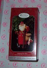 HALLMARK KEEPSAKE CHRISTMAS ORNAMENTS MAKING HIS WAY 1998 NEW WITH BOX