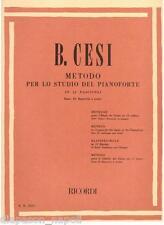Beniamino Cesi: Metodo Per lo Studio Del PianoforteFascicolo 2° - Ricordi