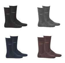 Joop! calcetines caballero 2 pares, Basic Soft Cotton Sock 2-Pack, monocromática-elección de color