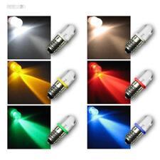 E10 LED Birne Schraubsockel Leuchtmittel, 12V DC, LEDs 6 Farben, Lampe Glühbirne