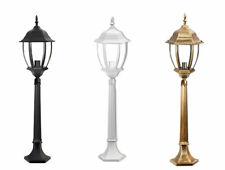 Lampione da giardino 870 mm lanterna in vetro e27 luce da esterno alluminio es39