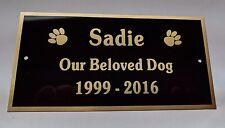 Dog Cat Pet Memorial Engraved Brass Plate - FREE Engraving