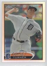 2012 Topps Chrome Refractor #39 Jacob Turner Detroit Tigers Baseball Card