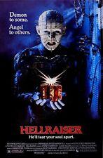 HELLRAISER Movie Poster Horror Pinhead Cenobite