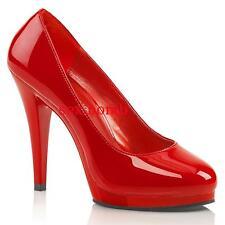 Sexy DECOLTE' tacco 11,5 ROSSO LUCIDO dal 35 al 46 plateau scarpe GLAMOUR Chic