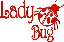 Lady Girl Bug Animal Ladybug Car Truck Window Laptop Vinyl Decal Sticker