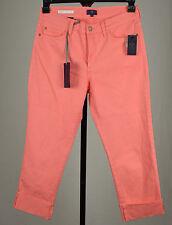 NYDJ Dayla Womens Pink Cuffed Cropped Capri Jeans 6 18