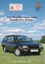 Mitsubishi Lancer Estate 1985-86 UK Market Foldout Brochure 1500 GLX 1800 Diesel