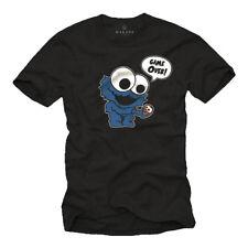 T-shirt monstruo divertido Cool galletas cookie Elmo Fun nerd cómic geek regalos nuevo