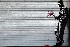 BANKSY WAITING IN VAIN GRAFFITI ART GICLEE PRINT FINE CANVAS
