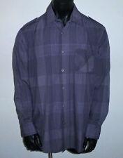 Snap ALFANI Grey Plaid Shirt Longsleeve Medium Extra Large Career NWT M XL