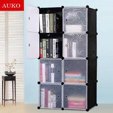 Cute Kid Cartoon 2/3/4/6/8/12 Cubes Storage Cabinet Wardrobe Toy Book Shelve BYH