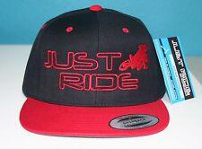 Just Ride Supermoto Visière Plate New Era Casquette Chapeau Souple Motard Mx