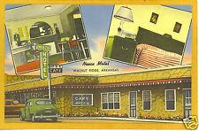 Advertising Postcard Neece Motel Cafe Walnut Ridge AR