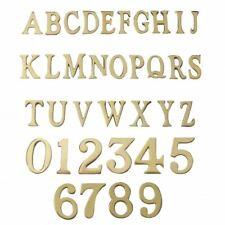 1.5 - 2 in (approx. 5.08 cm) Autoadhesivas Números y Letras de Latón Pulido Latón Sólido ()