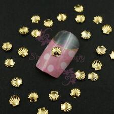 500 Summer Ocean Style Sea Shell Studs Metallic 3D Nail Art Manicure Craft Decor