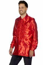 WIL Herren Kostüm Zubehör Satin Umhang in rot Karneval