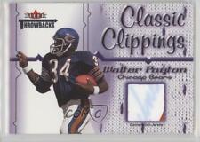 2002 Fleer Throwbacks Classic Clippings #WAPA Walter Payton Chicago Bears Card