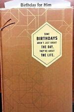 34A BIRTHDAY Card for HIM Masculine Friends & Family Members HALLMARK 12 Choice