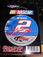 """KURT BUSCH #2 PENSKE NASCAR NUMBER  3"""" ROUND STICKER"""