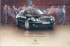 Mercedes E-Klasse Sportpaket AMG Prospekt 12/04 brochure 2004 Auto PKW Broschüre