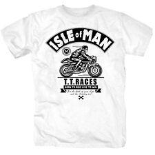 Isle of Man Motorrad MC Rennen Motorcross T-Shirt S-4XL weiss