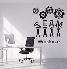 Wall Stickers Vinyl Decal Team Business Work Teamwork Office Interior z4699