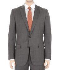 $400 Bar III Slim Fit Taupe Brown Plaid 100% Wool 2 Button Blazer Sportcoat