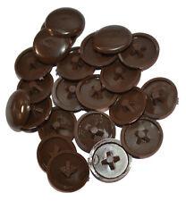 Dark Brown Plastic Press-Fit Pozi Screw Head Cover Caps, Choose Quantity